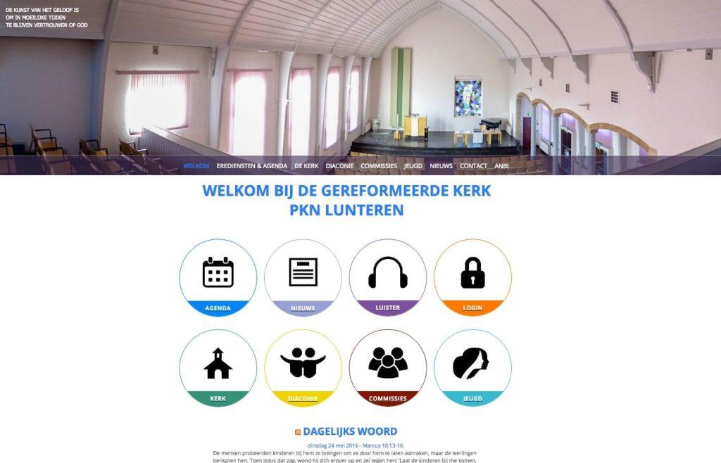 webdesign van website voor de gereformeerd kerk Lunteren
