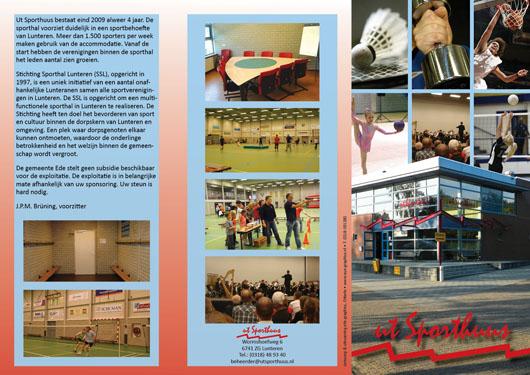 Ontwerp en DTP uitvoeren van Flyer voor de ut sporthuis lunteren