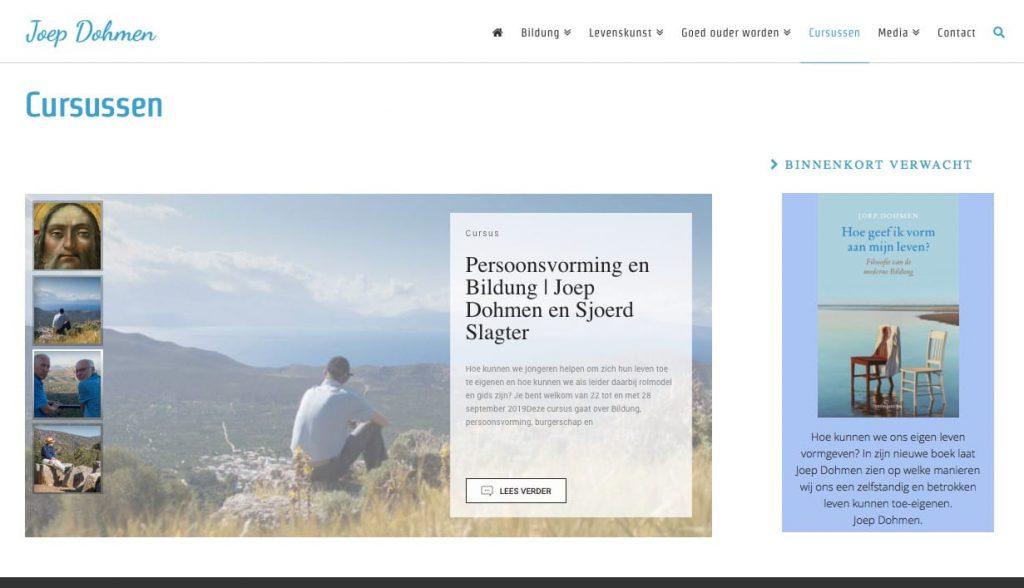 Webdesign wordpress website voor Joep Dohmen uit Utrecht