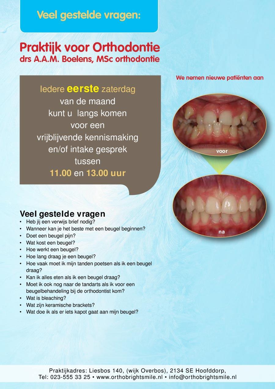 Flyer voor orthodontie praktijk uit Hoofddorp