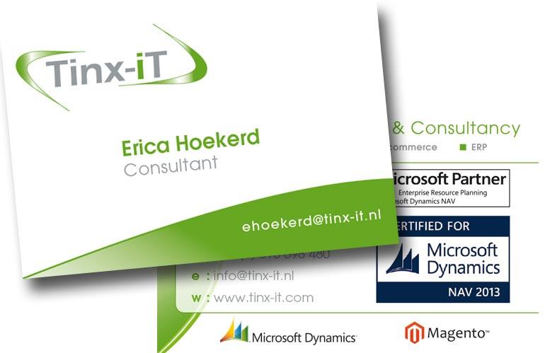 DTP ontwerp visitekaartjes voor Tintx-IT uit Ede