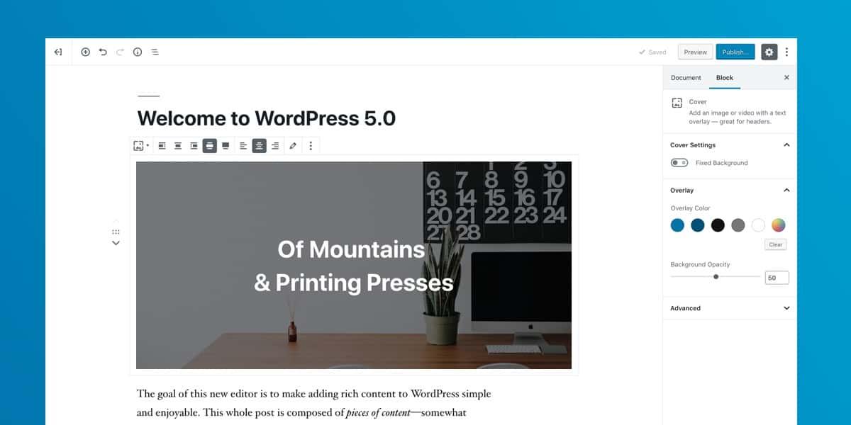 WordPress 5.0 is vrijgegeven 1