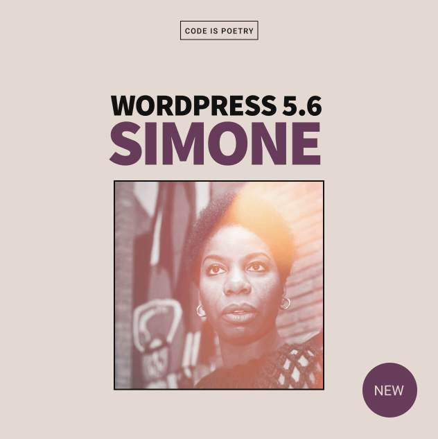 "WordPress 5.6 ""Simone"" 1"